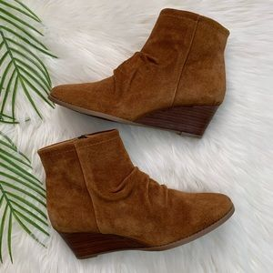 Franco Sarto Winston Suede Wedge Ankle Boot 9M